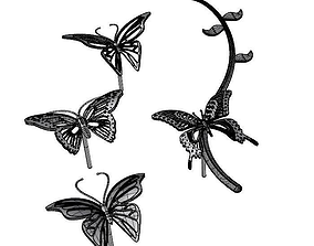 Butterfly Earring Set 3D printable model