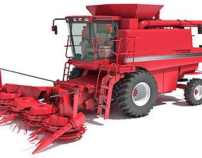 farm Combine Harvester 3D model