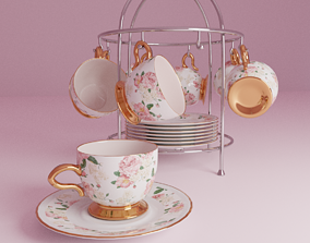 3D A set of tea cups