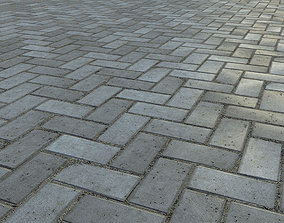 Paving bricks 01 3D model