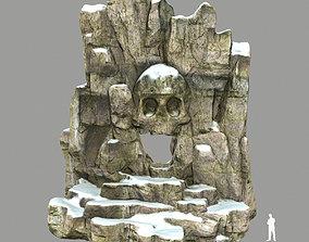 skull cave desert 3D model game-ready