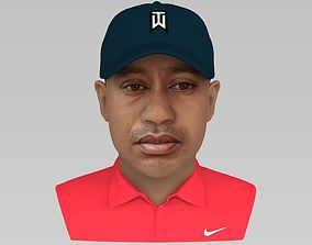 Tiger Woods bust ready for full color 3D printing