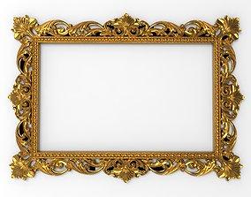 3D model photo carved frame