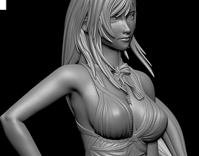 3D print model Tifa Lockhart PURPLE DRESS Final Fantasy 3