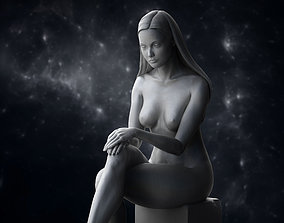 3D model Girl Sitting Sculpture Zbrush