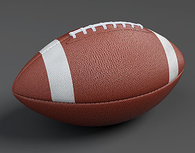 realtime American football Ball 3D model