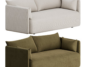 3D Offset Sofa 2 Seater by Menu