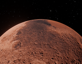 Mars red planet - 8k textures 3D model