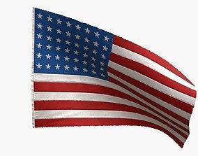 US Flag 48 Stars 1912-1959 3D model