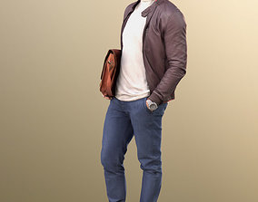 3D model 10599 Andrew - Stylish Guy Man with leather 2