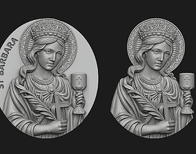 Saint Barbara Medallion and Pendant 3D print model