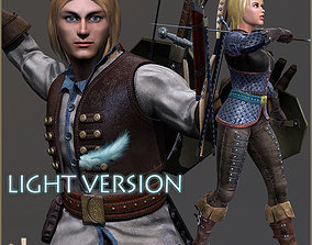 Adam And Eva Adventurer Light Version 3D model