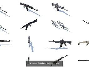 Assault Rifle Bundle 3D model