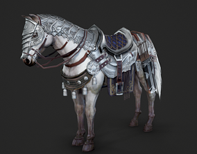 The warhorse of ancient Chinese armed cavalry 3D asset 3