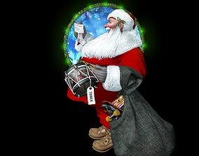 man Santa Claus 3D