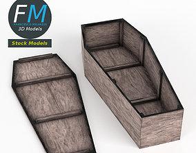 3D model Rustic coffin