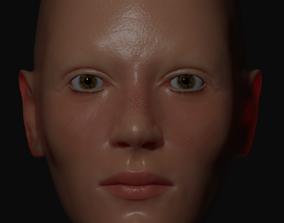 3D Female Head Character Model