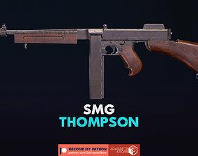 3D asset Weapon - Gun - SMG - Thompson