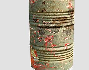 dirty metal barrel 3D model