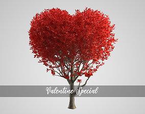 3D model Valentine Heart Animated Tree