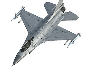F16 Fighting Falcon 3D asset game-ready