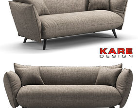 3D model Kare Sofa Molly Cliff 3-Seater