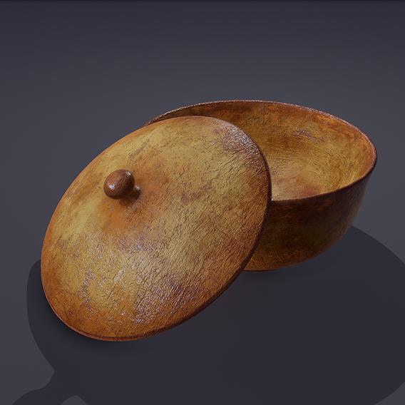 Terracotta Pot and Lid 3D Model