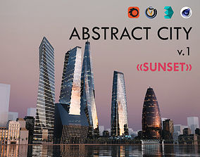 Abstract City V1 Sunset 3D model