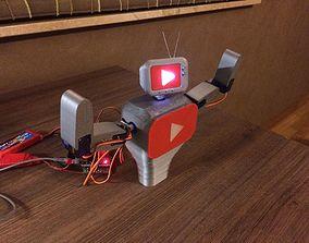 3D Youtube mascot robot