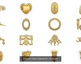 Acanthus Onlay Collection30 3D