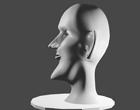 person game-ready 3d demon head model