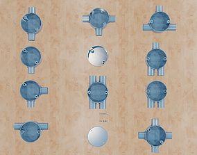 lighting 3D print model Conduit Boxes-20mm