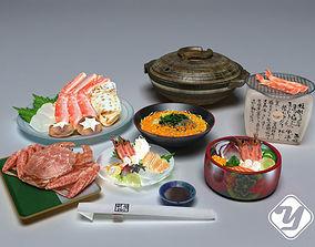 3D model Japanese Food set