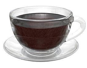 3D Tea cup with saucer