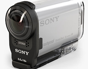 3D model Sony HDR-AS200V action camera with Case
