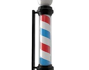 3D model Barber Shop Pole Black
