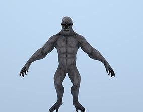 3D model animated Character Yeti