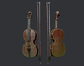 Violin Instrument Game Ready 04 3D asset