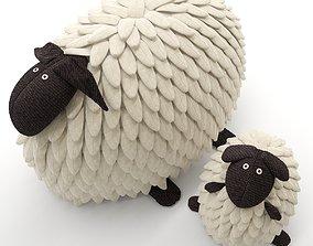 3D ottoman Toy pillow