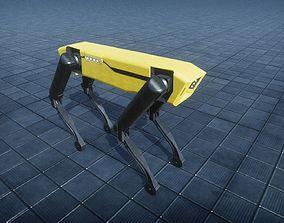 Boston Dynamics Spot mini rigged 3D asset low-poly