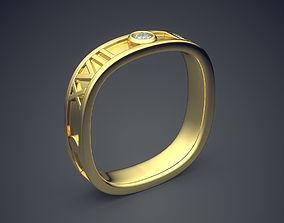 3D printable model Unique Square Engagement Ring With 3