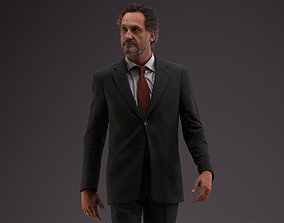 00053PaulJan002 Business Man Walking Pre Posed 3D Model
