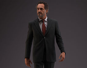 00053PaulJan002 Business Man Walking Pre Posed 3D Model