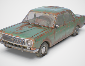 3D asset Old Soviet Car Set