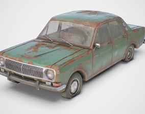 3D model Old Soviet Car Set