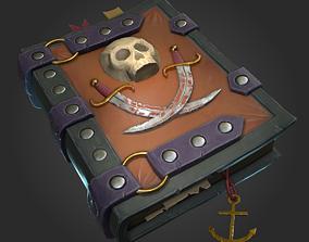 Pirate Book 3D asset VR / AR ready