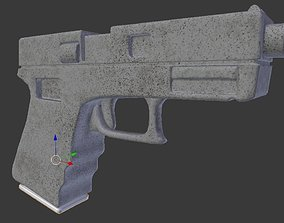 Pistol Low Poly 3D asset