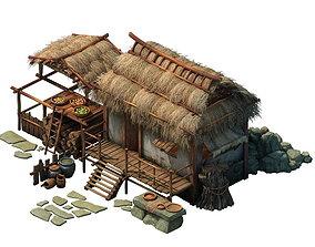 desert Game Model - Thatched Cottage 02