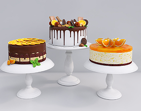 3D Orange cake collection