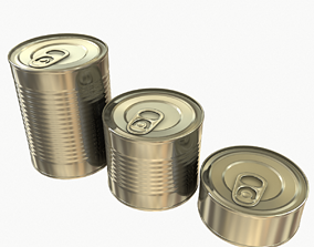 Tins Cans Pack 3D model